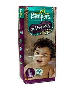 Pampers Diapers Active Baby Large