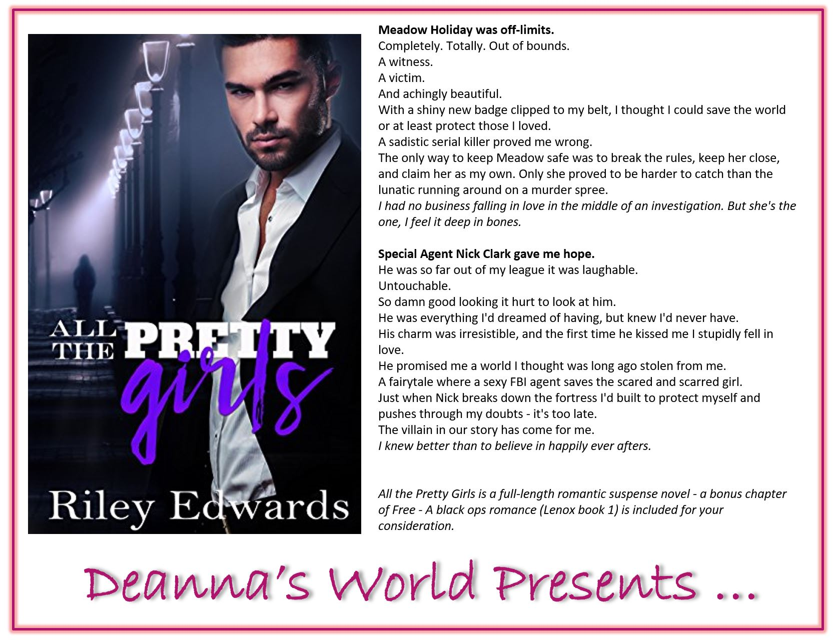 All The Pretty Girls by Riley Edwards blurb