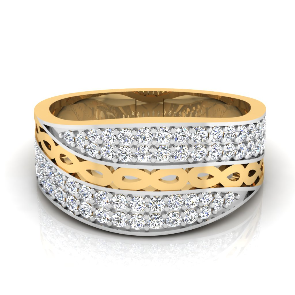 The Swirl Diamond Ring