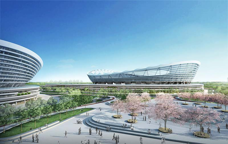 Construction of SIP Sports Center in Suzhou has started