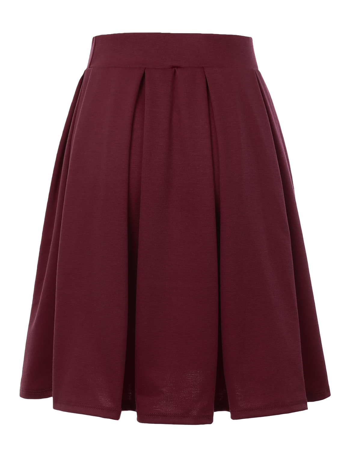 Doublju-Elastic-Waist-Flare-Pleated-Skater-Midi-Skirt-for-Women-with-Plus-Size thumbnail 24