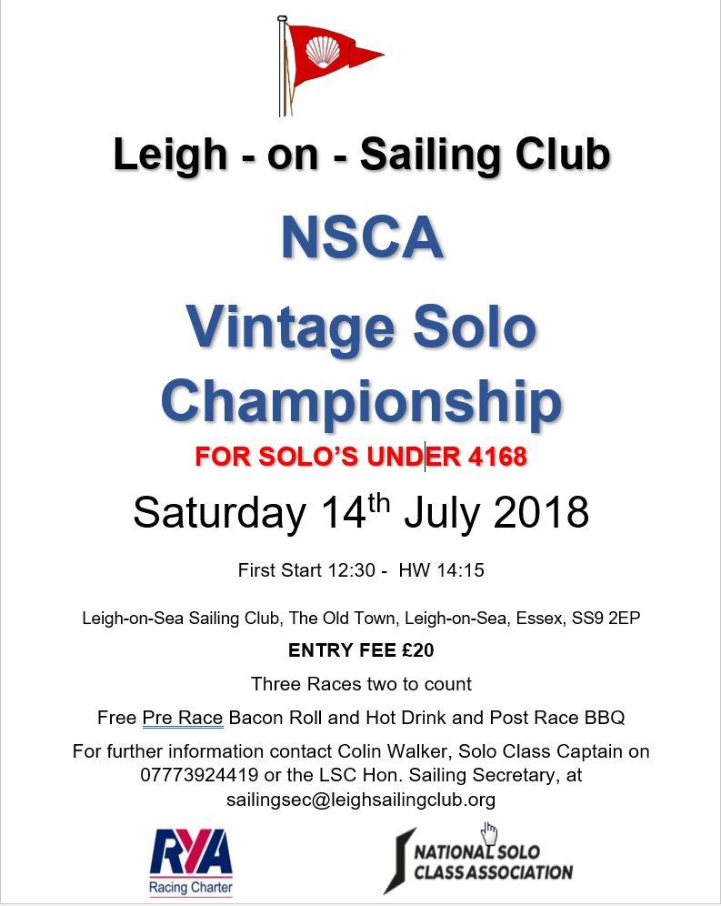 Vintage Solo Championship 2018
