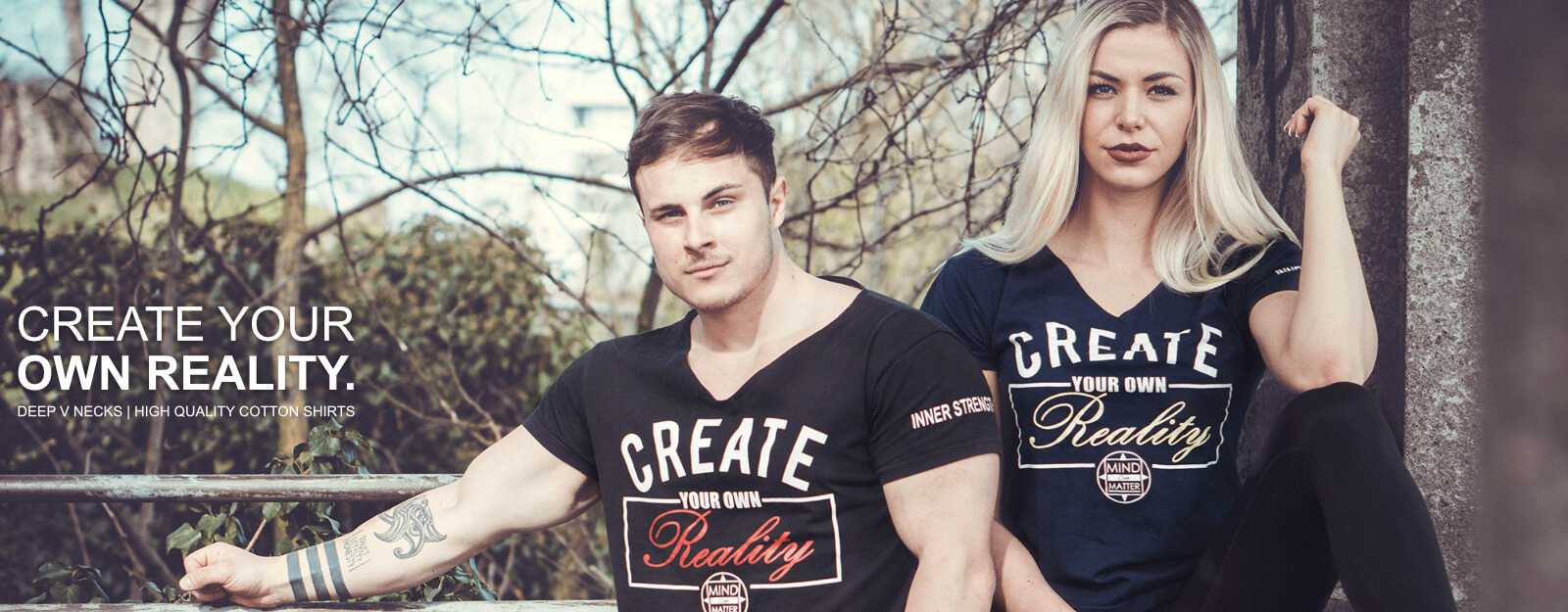 Create Your Own Reality Shirts Mind Over Matter. - Banner