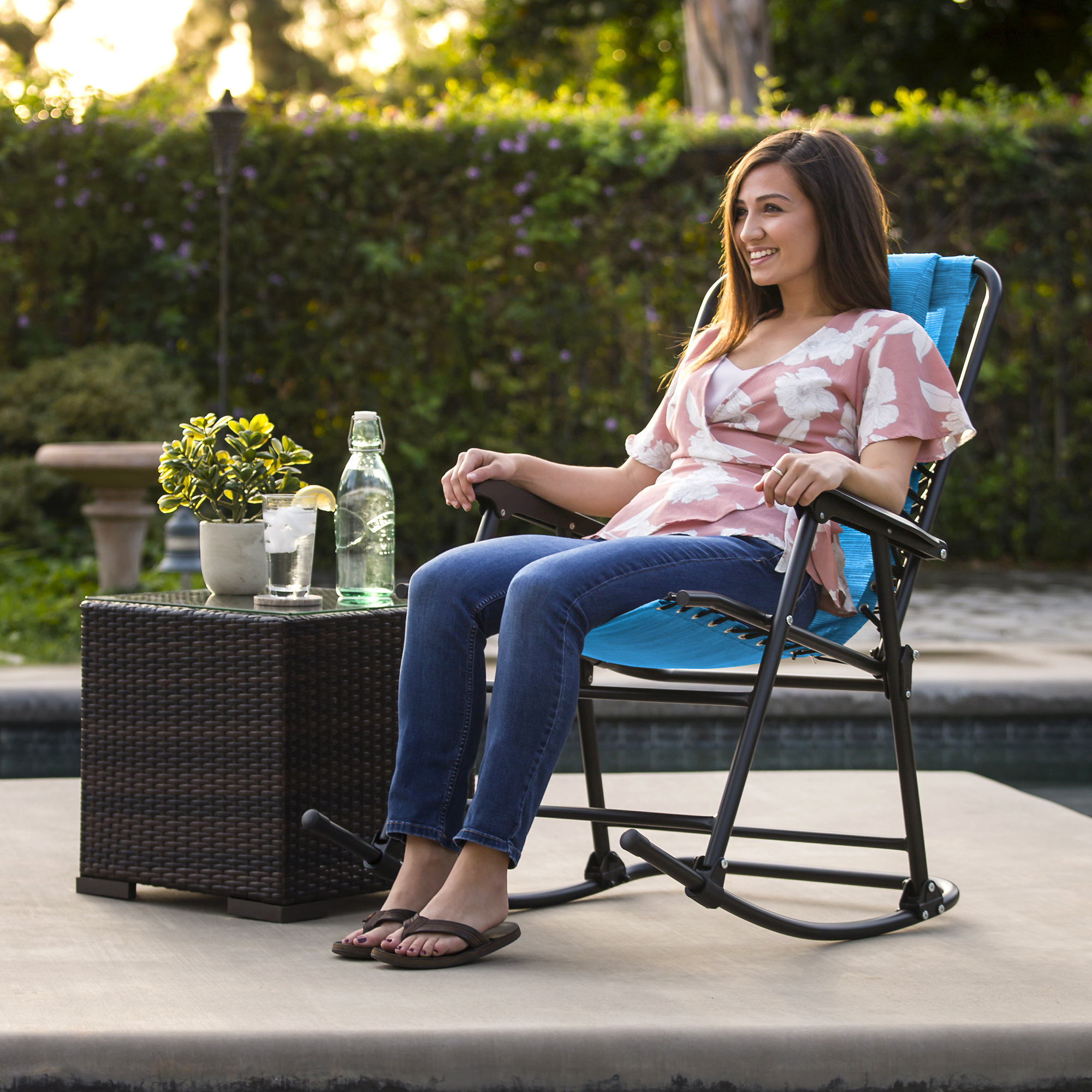 BCP-Foldable-Zero-Gravity-Patio-Rocking-Lounge-Chair thumbnail 44