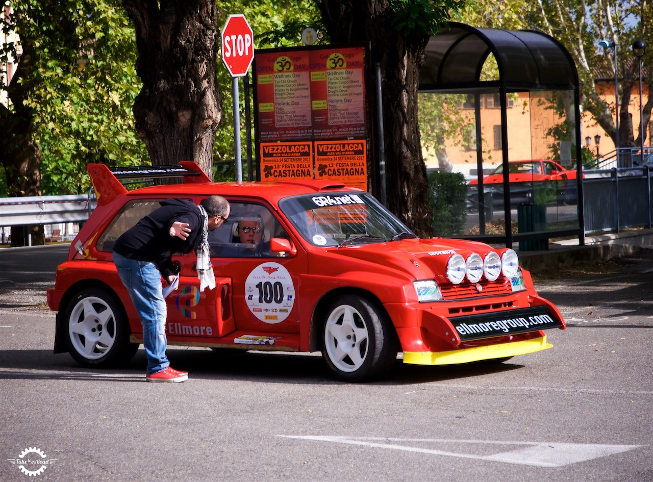 Going for a ride in a Metro 6R4 Group B Rally Car in Italy