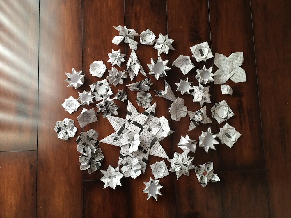 Photo of Quinn's origami