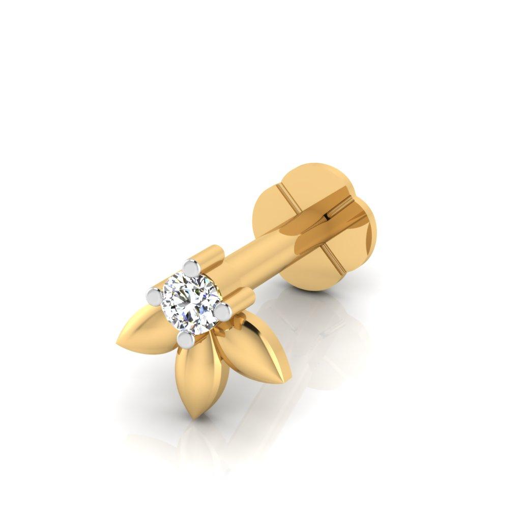 The Yusra Diamond Solitaire Nose Screw
