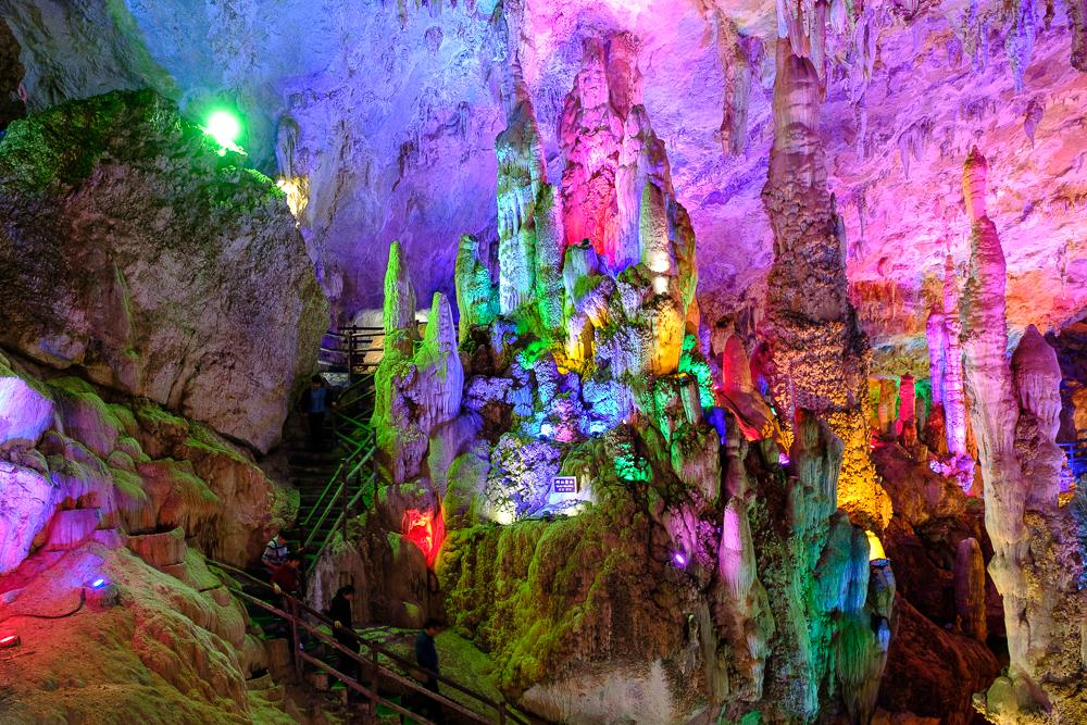 De kleuren hadden iets subtieler gekund, maar de grot was wel écht spectaculair.
