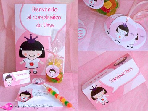 Kit de cumpleaños de la princesa Uma, Cartel de bienvenida