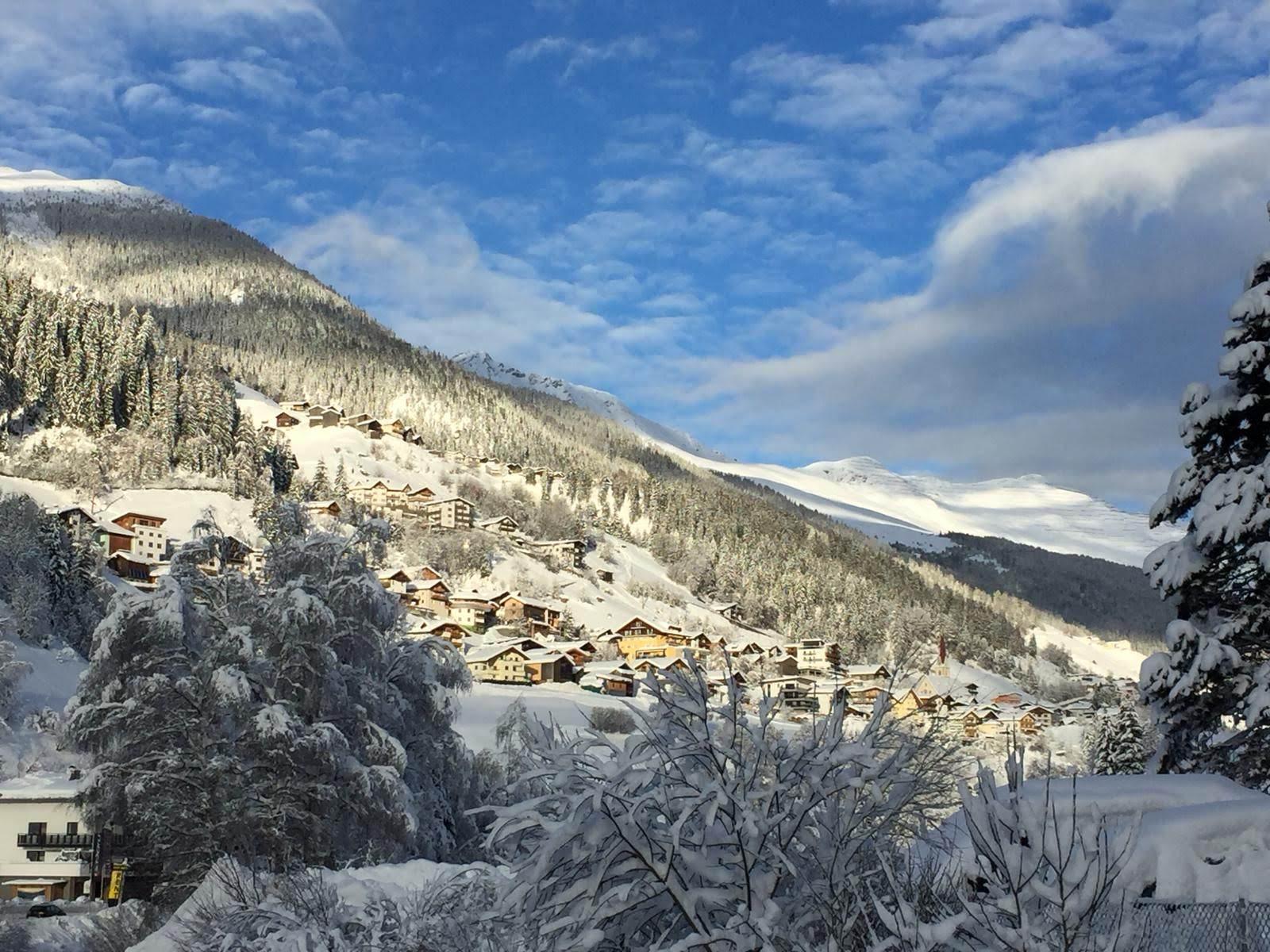 Landschaftsaufnahme von Kappl im Winter