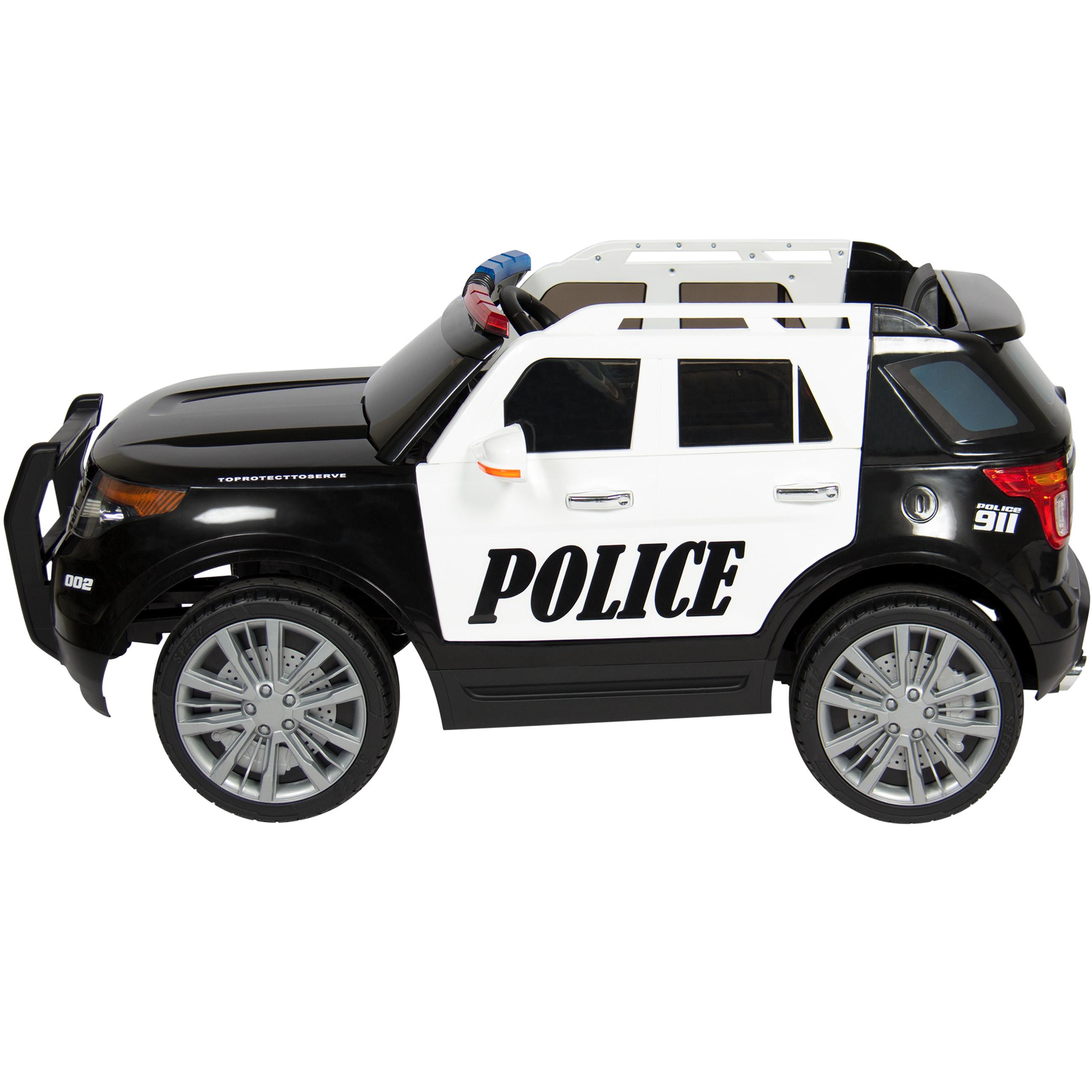 Bcp 12v Kids Police Ride On Suv Car W 2 Speeds Lights