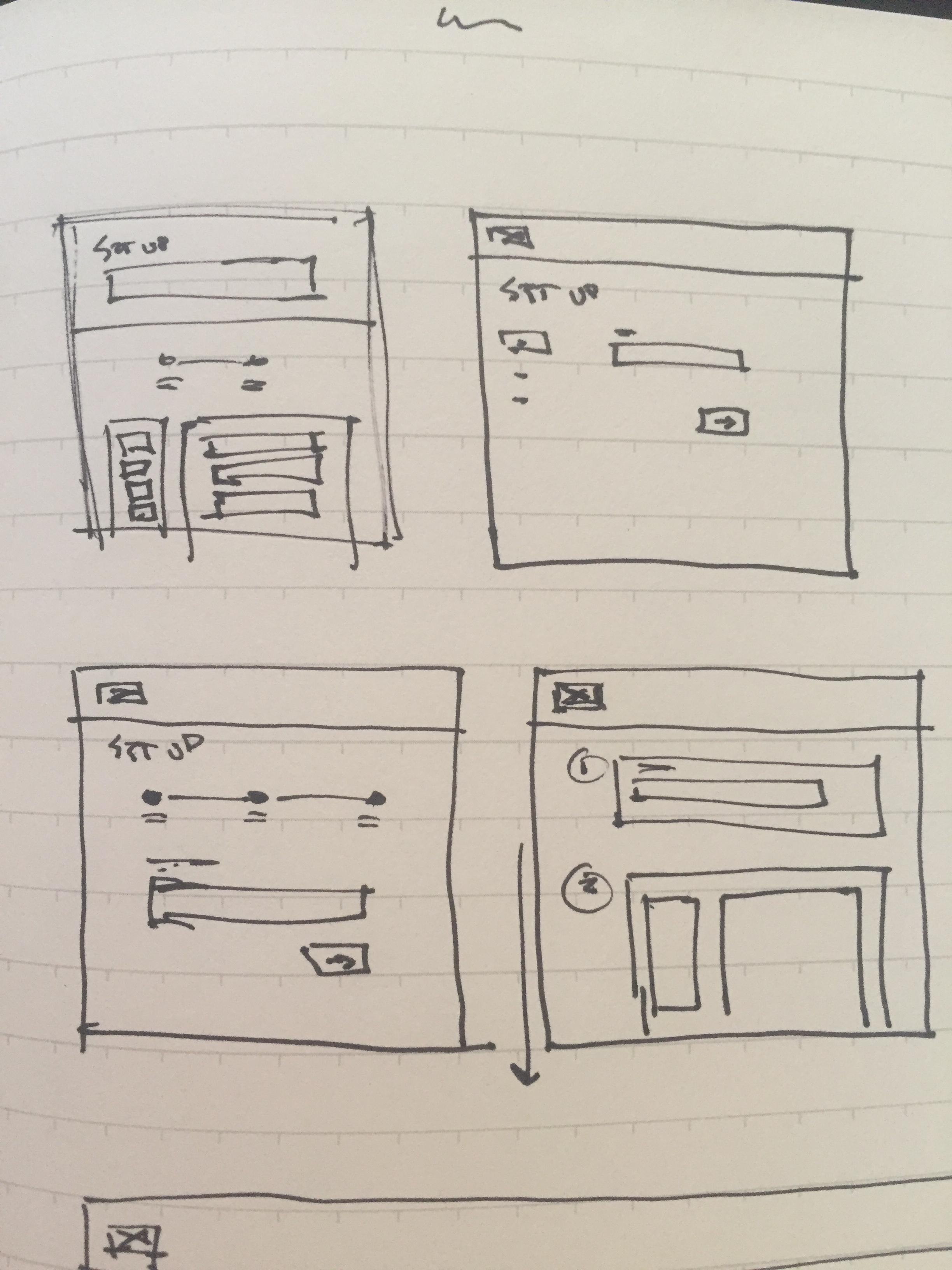 thumbnail UI sketches