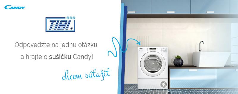 Súťažte s TIBI.sk o sušičku Candy!