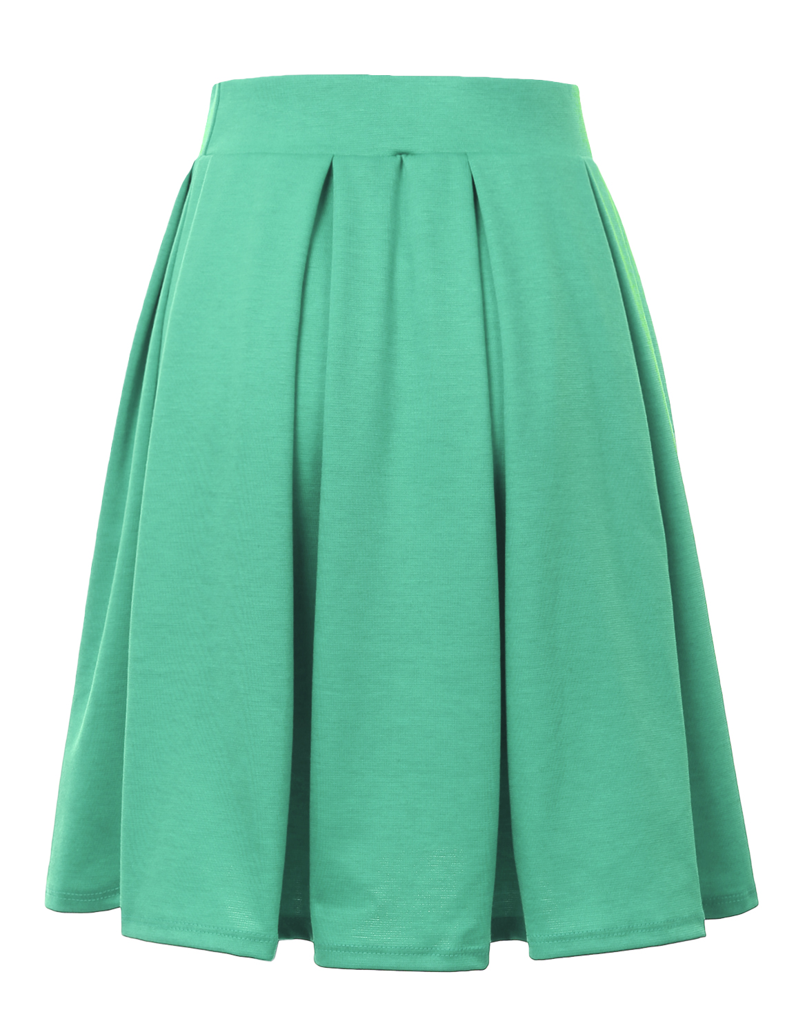 Doublju-Elastic-Waist-Flare-Pleated-Skater-Midi-Skirt-for-Women-with-Plus-Size thumbnail 9