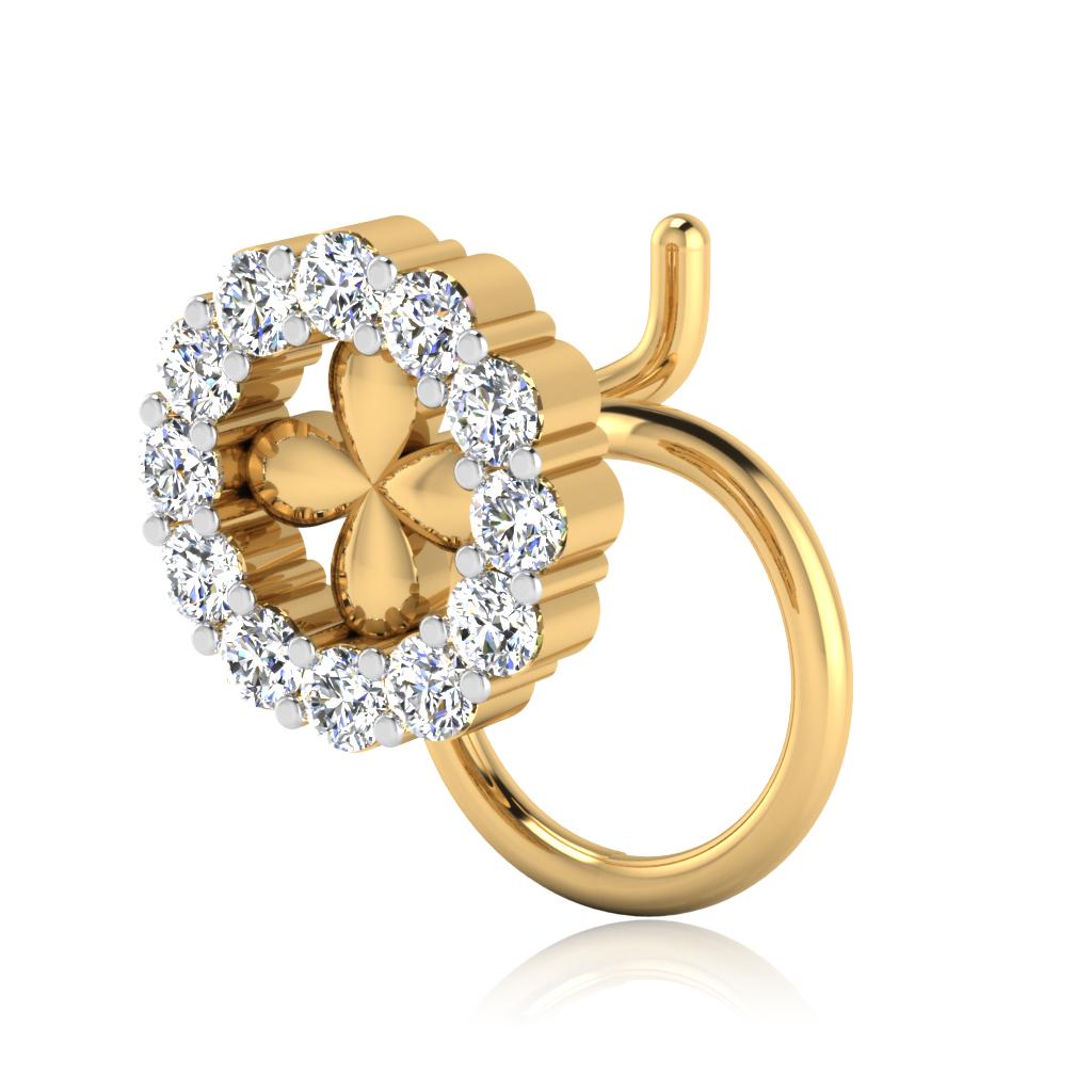 The Wisteria Diamond Nose Pin