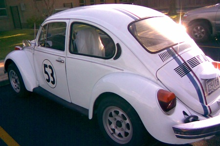 A car that looks like Herbie.