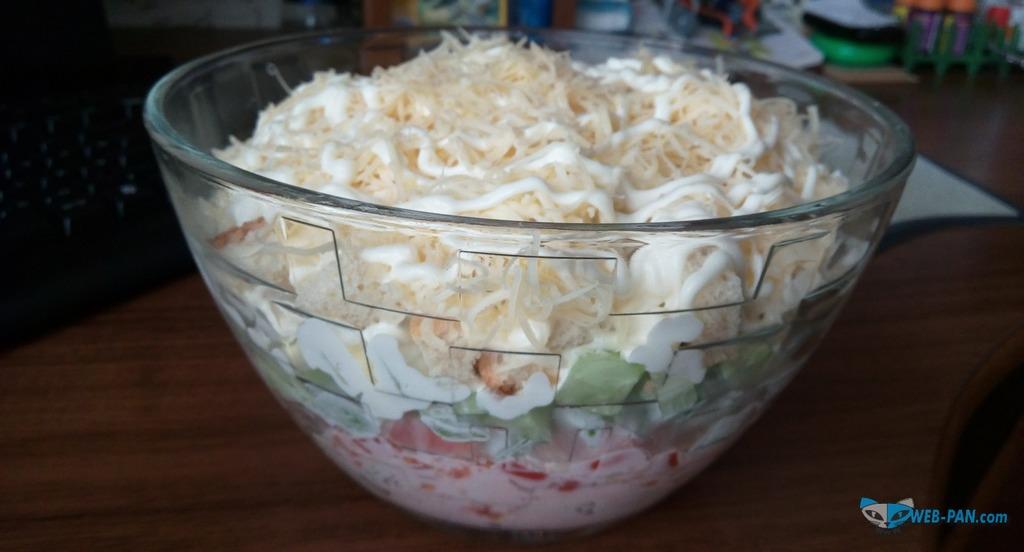 Новый вид салата, готовлю, слоёный!