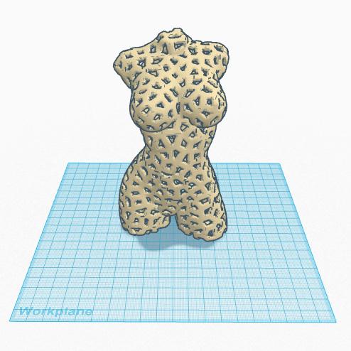3d printed voronoi figure