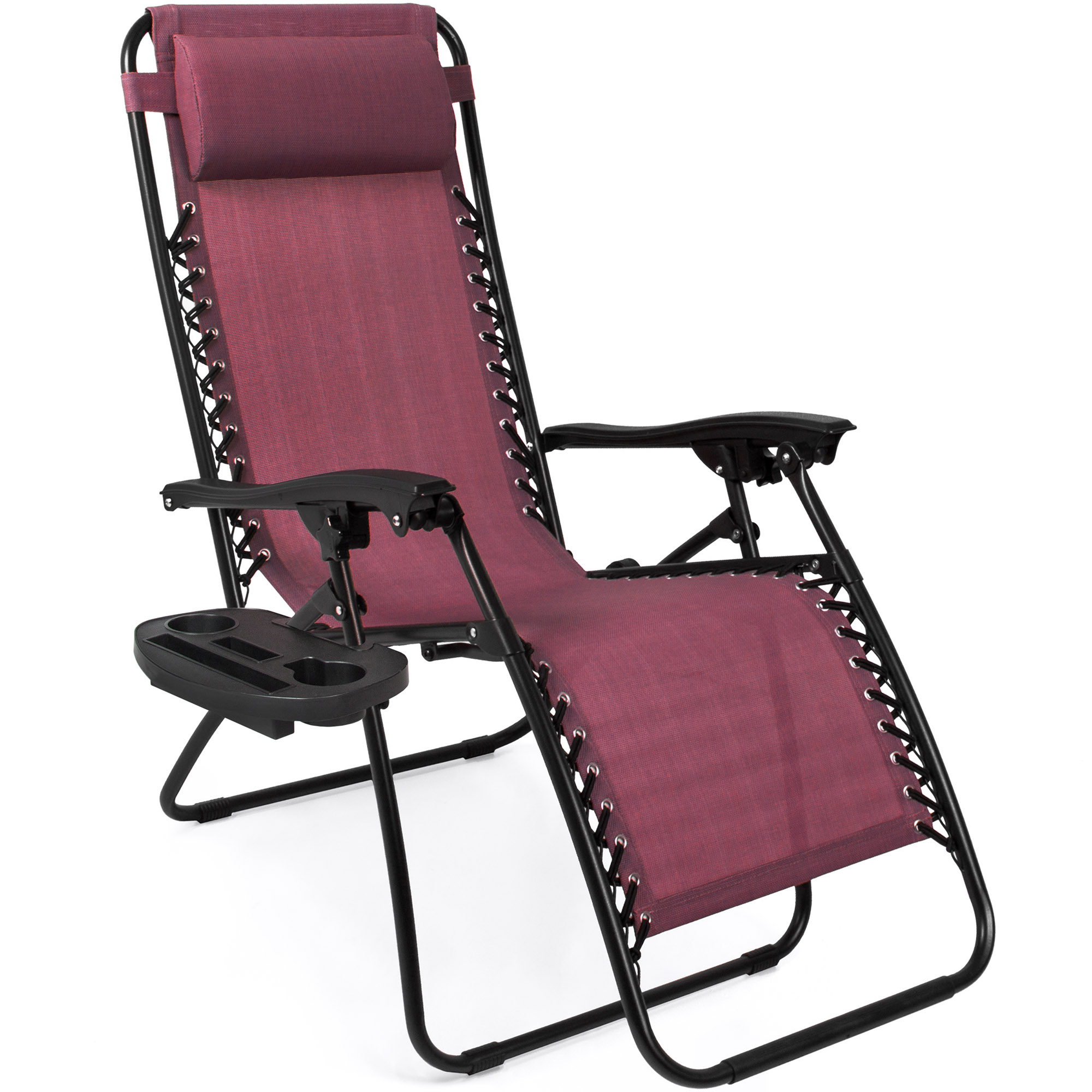BCP-Set-of-2-Adjustable-Zero-Gravity-Patio-Chair-Recliners-w-Cup-Holders thumbnail 38