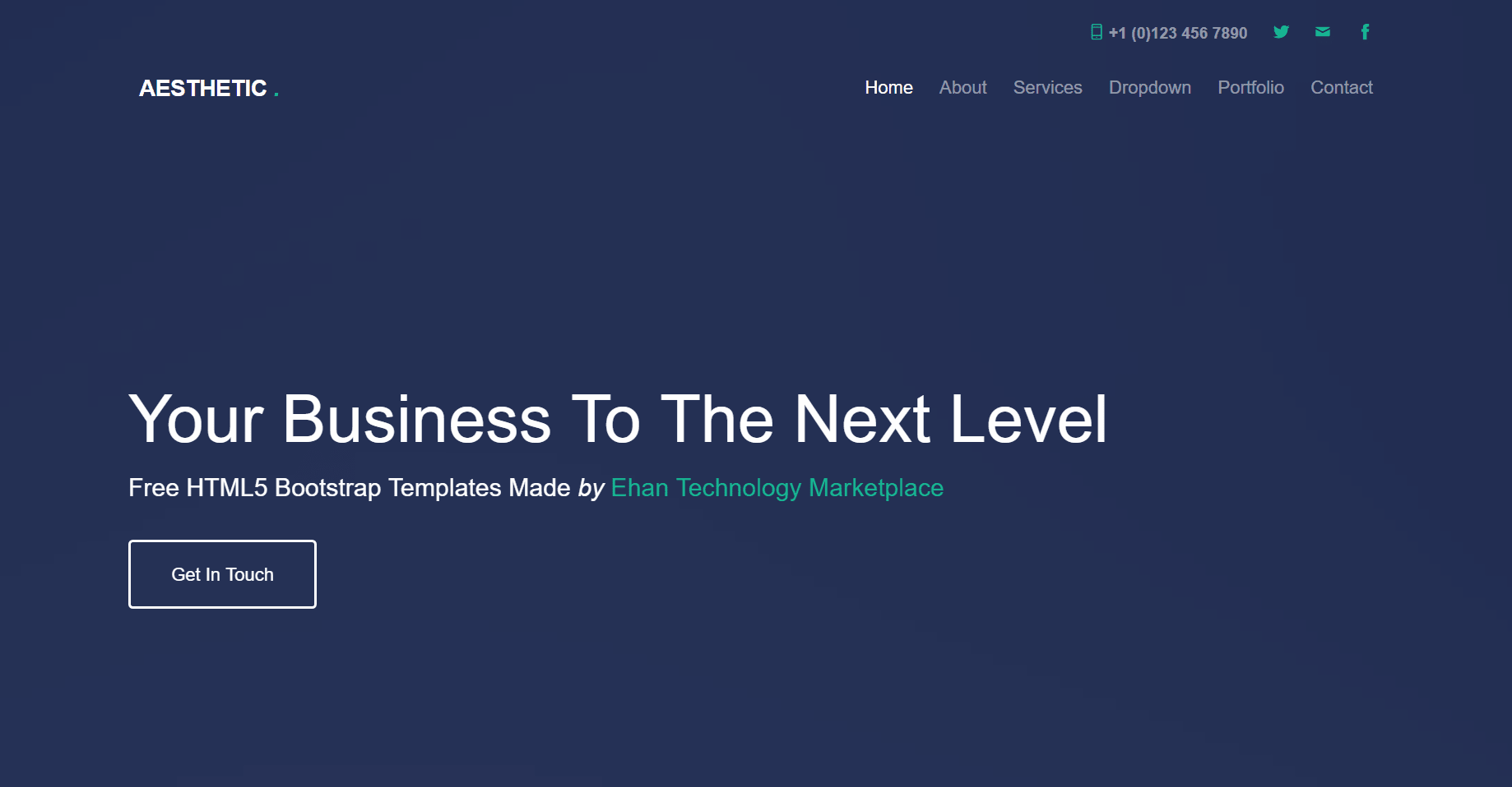 Aesthetic – Free Business Bootstrap Template