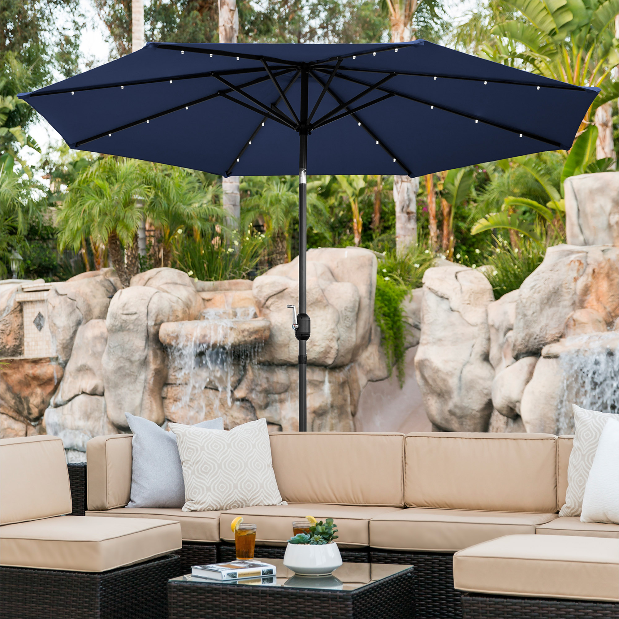 BCP-10ft-Solar-LED-Lighted-Patio-Umbrella-w-Tilt-Adjustment-Fade-Resistance thumbnail 44