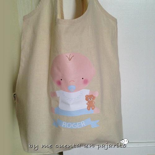 Bolsa personalizada de algodón bebe