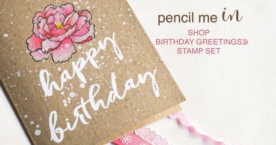 shop Brushed Birthday Stamp Set