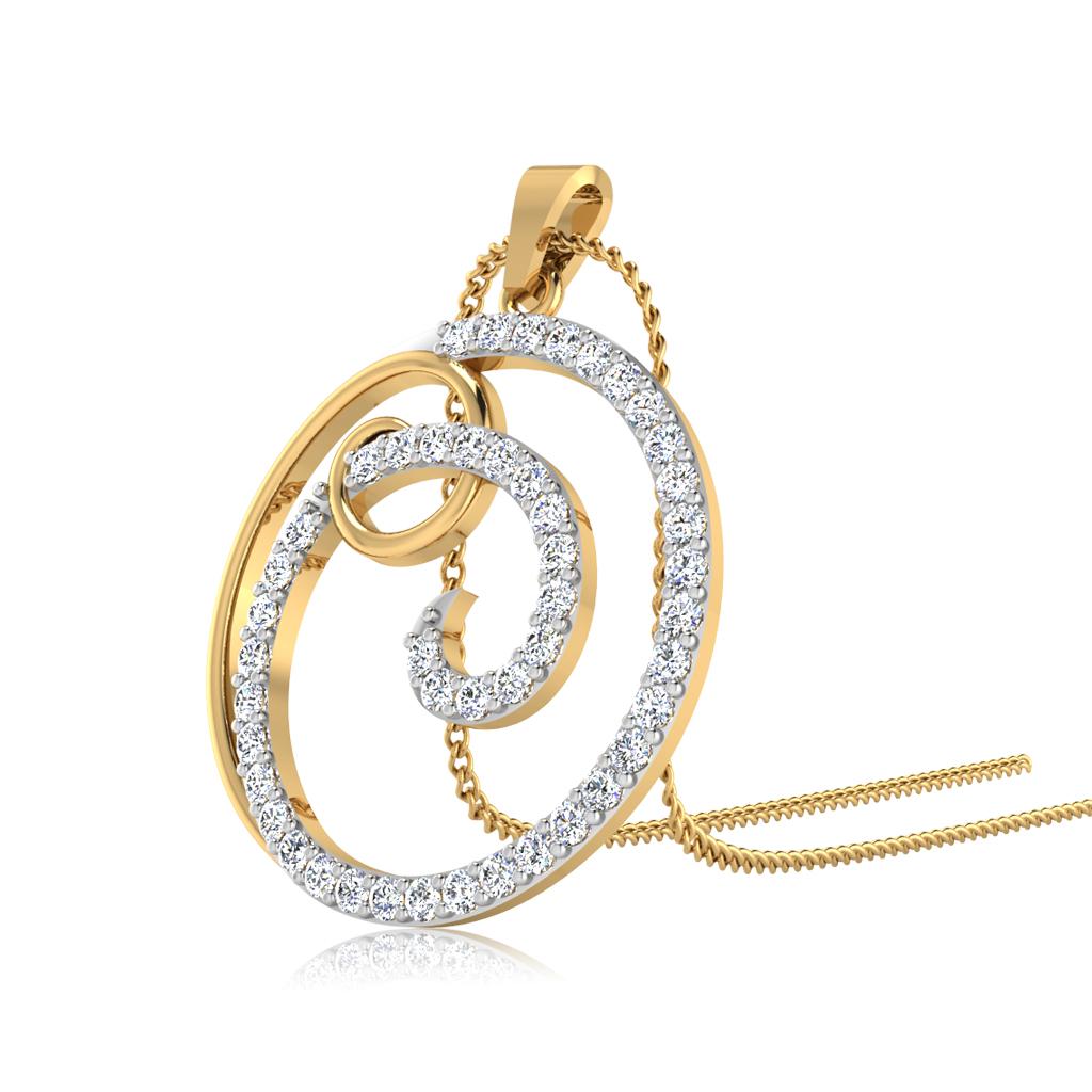 The Curl Diamond Pendant