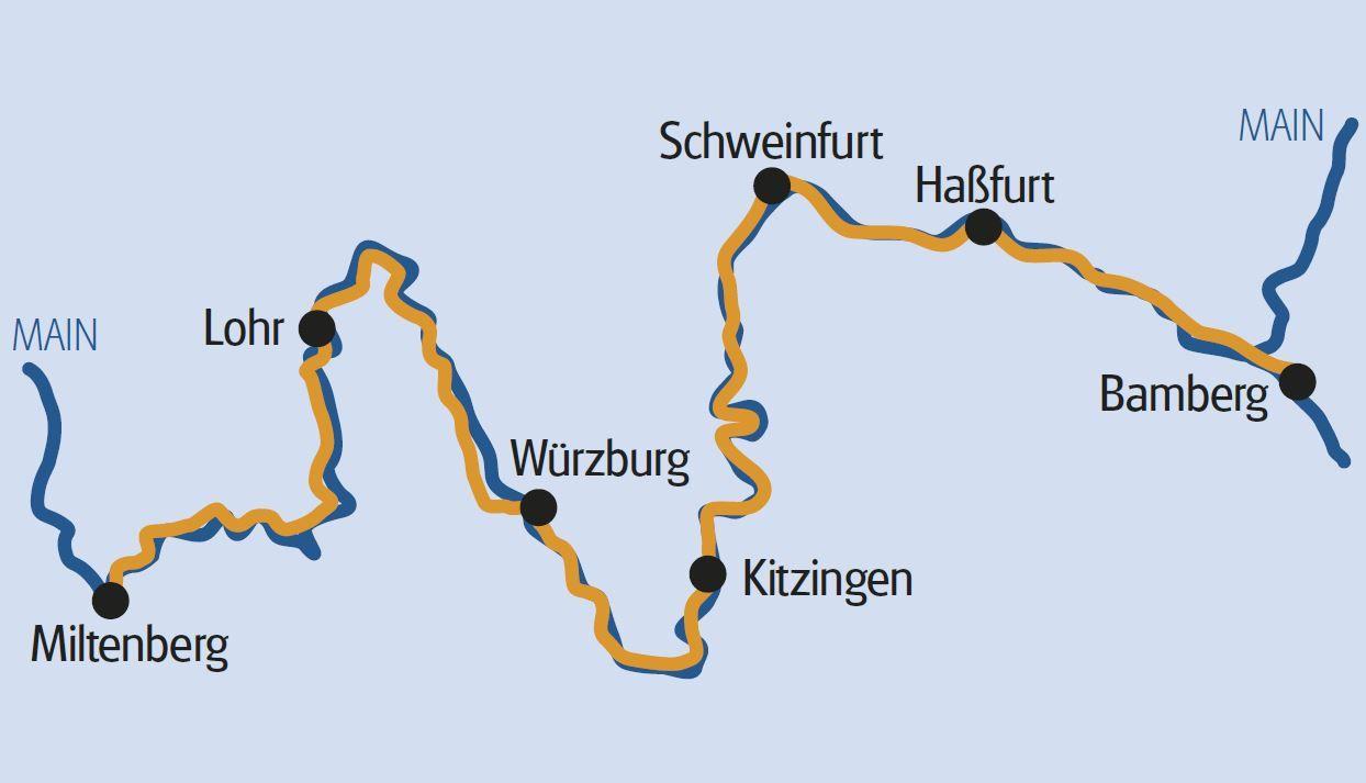 Radtour Deutschland: Miltenberg nach Bamberg