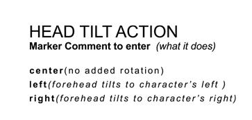 Head Tilt Action