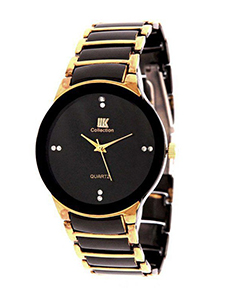 Fashion Stainless Steel Analog Watch for Men Gold