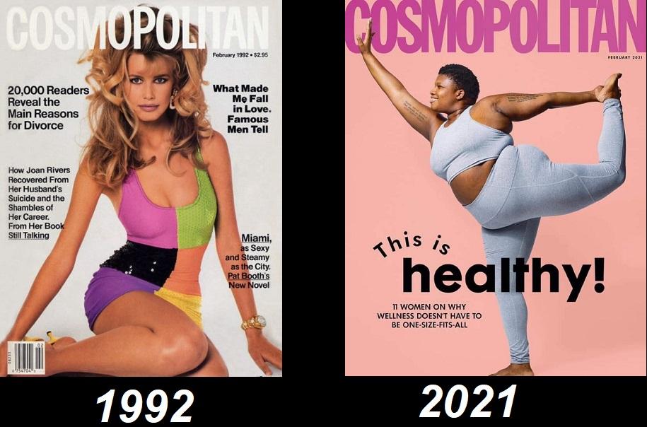 обложки космо за разные годы