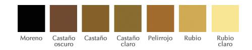 Cómo personalizar tu dibujo, color del pelo