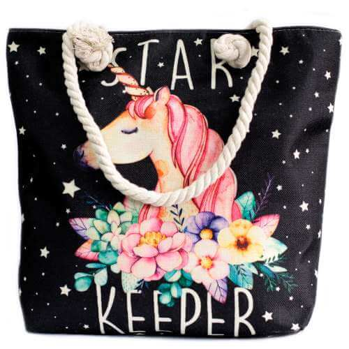 rope handle bag - unicorn