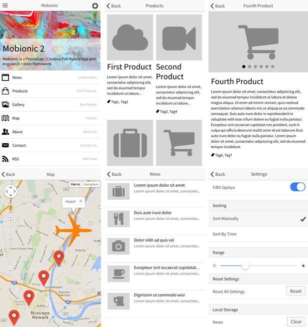 Mobionic - PhoneGap / Cordova Full Hybrid App - 4