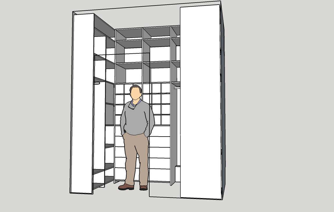 модель шкафа кладовка встроенный
