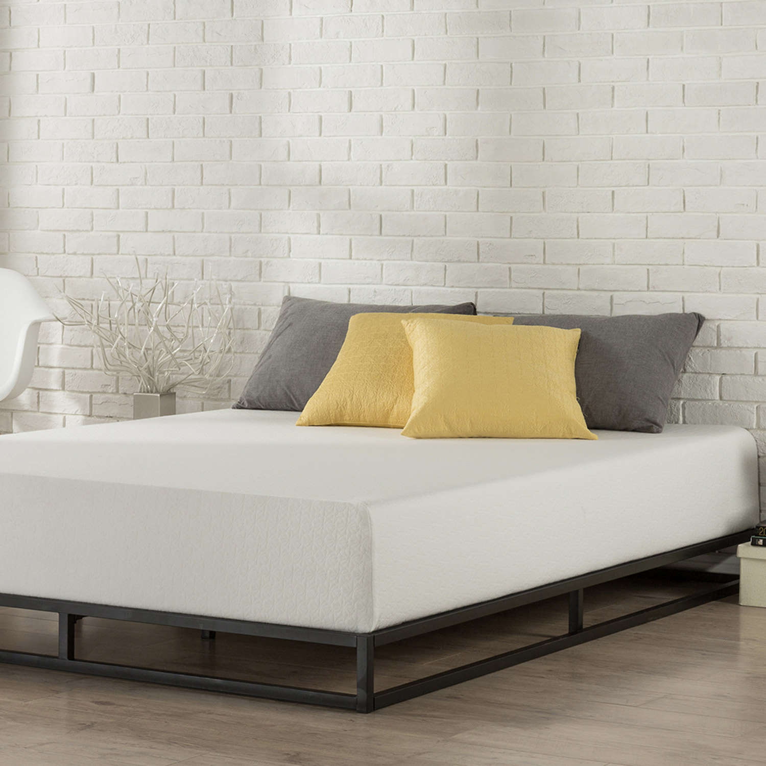 Zinus-Joesph-SINGLE-DOUBLE-QUEEN-KING-Metal-Low-Bed-Base-Mattress-Frame-Timber thumbnail 32