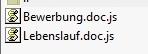 Schädliches Script im Anhang einer Mail - mit bewusst doppeltem Format