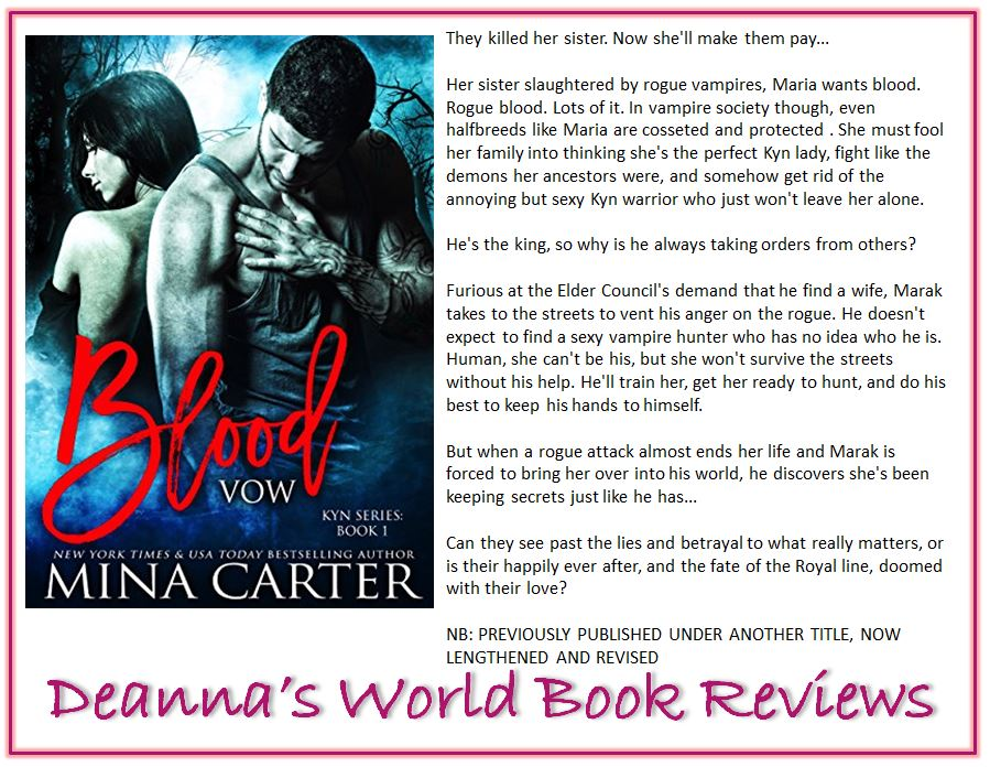 Blood Vow by Mina Carter blurb