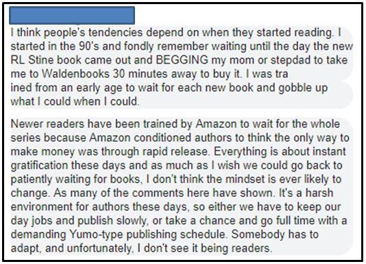 Reading habits change