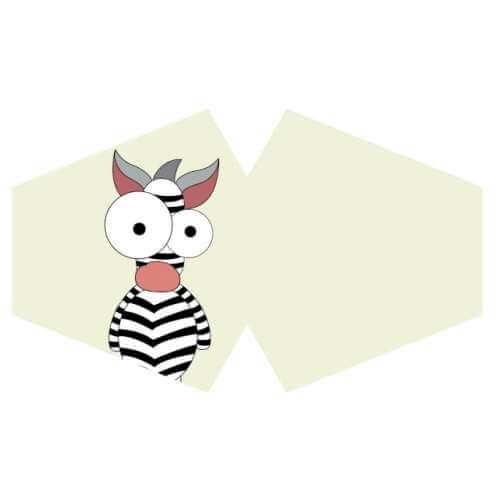 face mask - crazy zebra