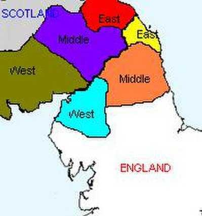 Марки шотландские и английские