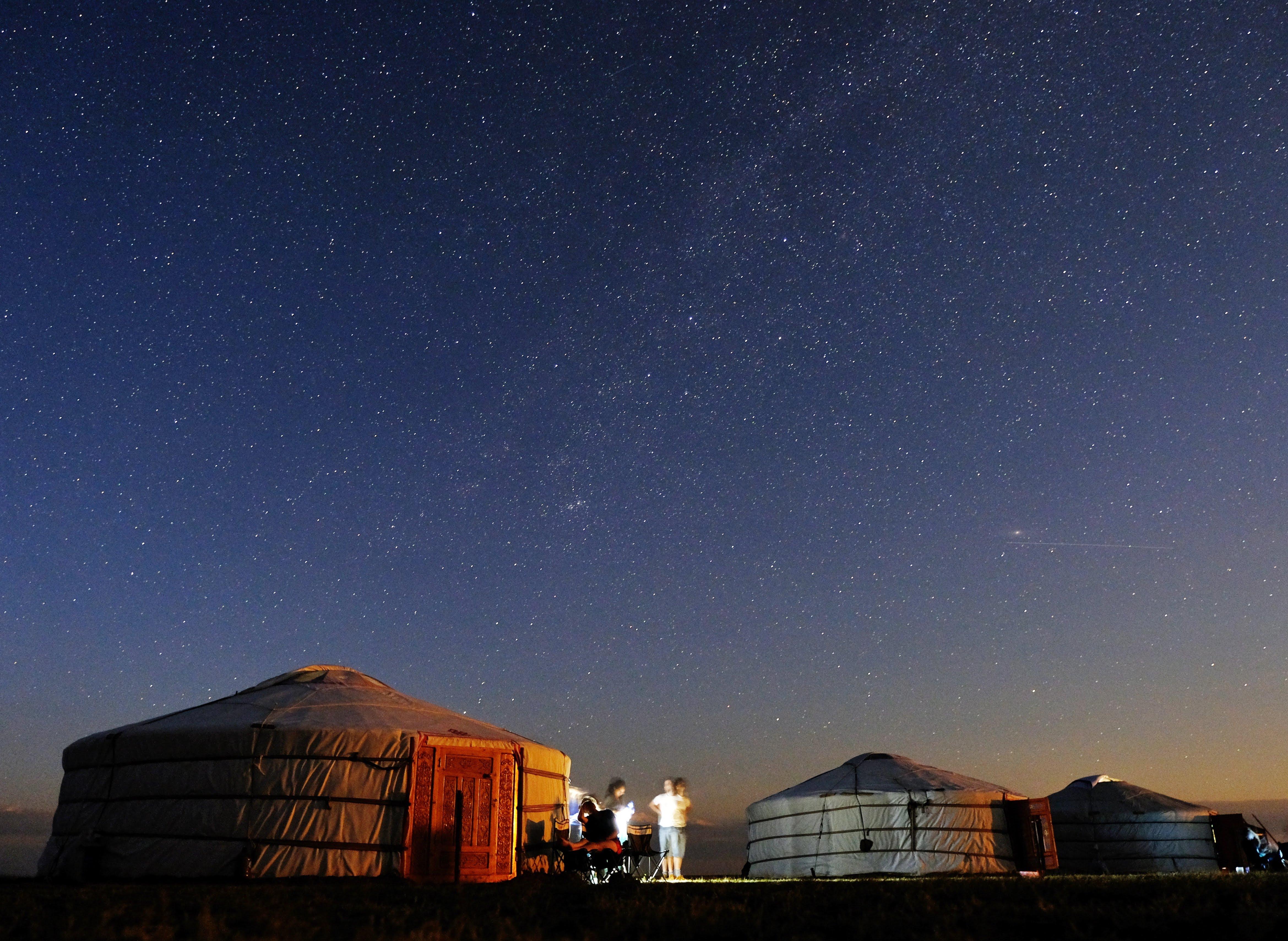 In de woestijn konden we de prachtige sterrenhemel met melkweg bewonderen!