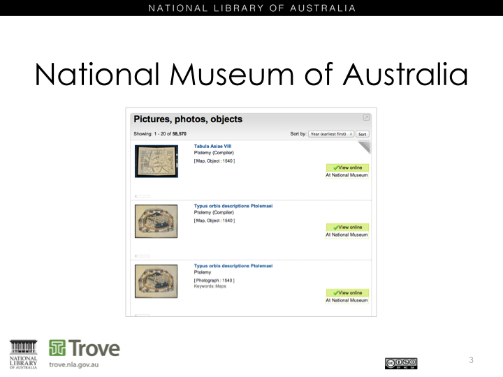 National Museum of Australia in Trove