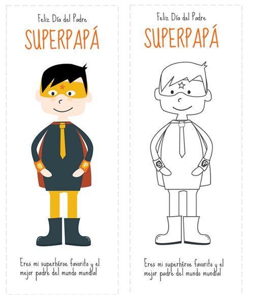 Superhéroe Día del Padre