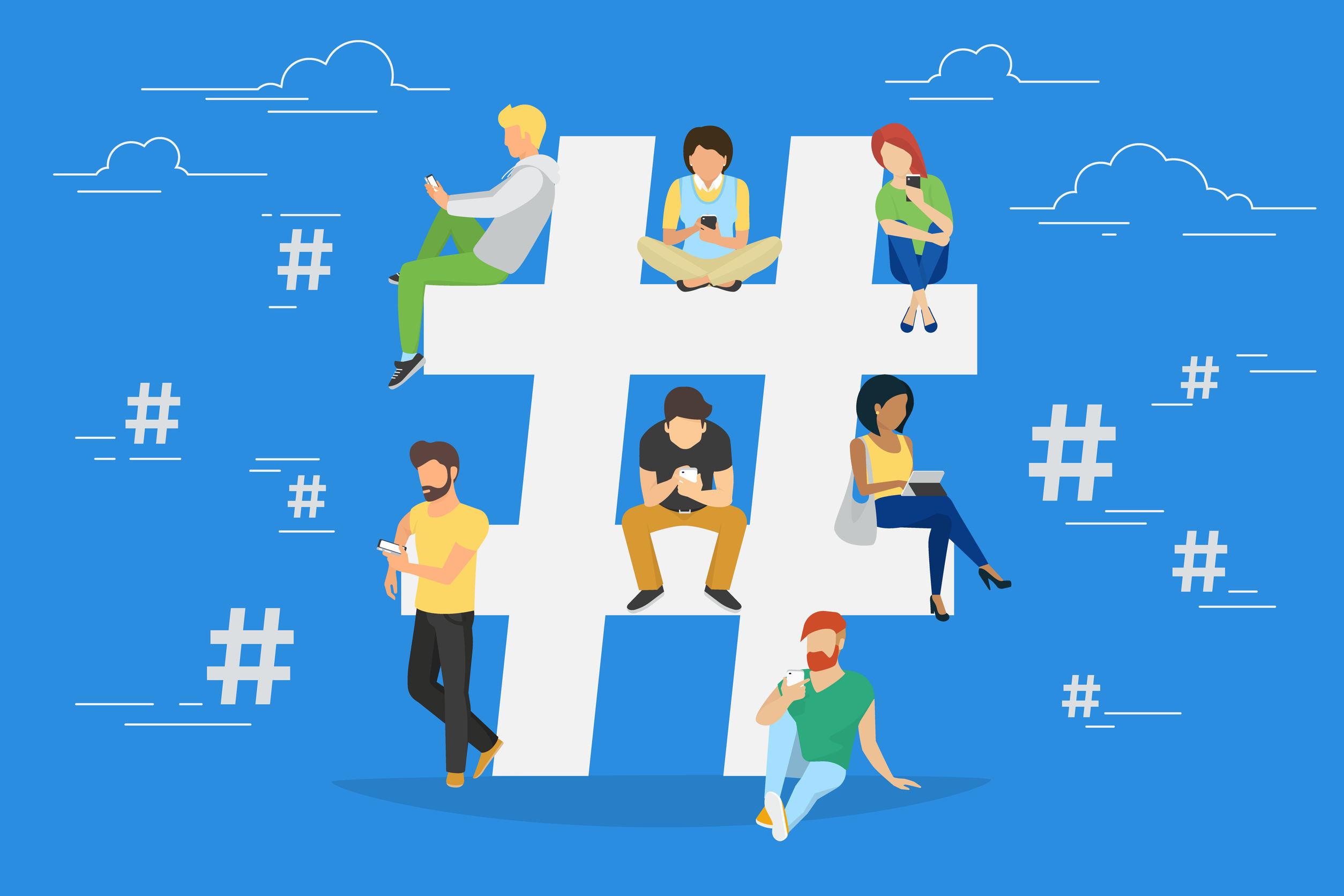 cara menggunakan hashtag