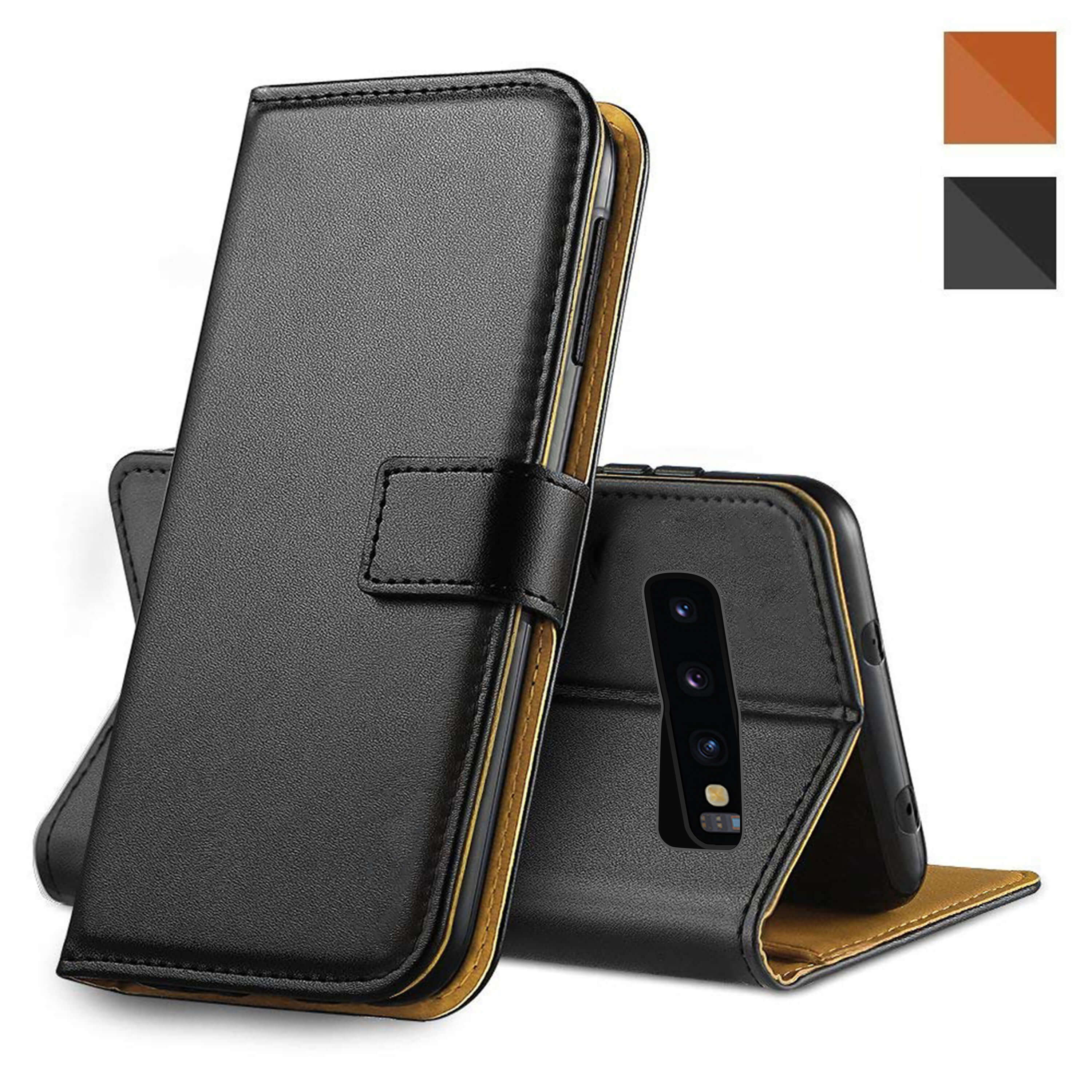 Leather-Flip-Wallet-Magnetic-Case-Cover-For-Samsung-Galaxy-S10-Plus-S9-S8-A50 thumbnail 23