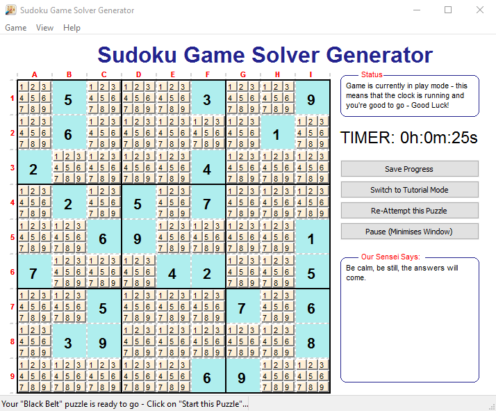 Sudoku Game Solver Generator for Windows Screen shot