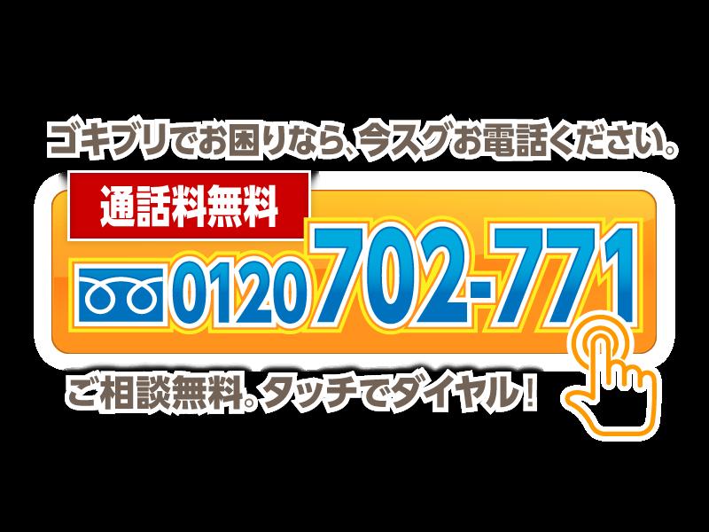 ゴキブリでお困りなら、今スグお電話ください。0120-702-771