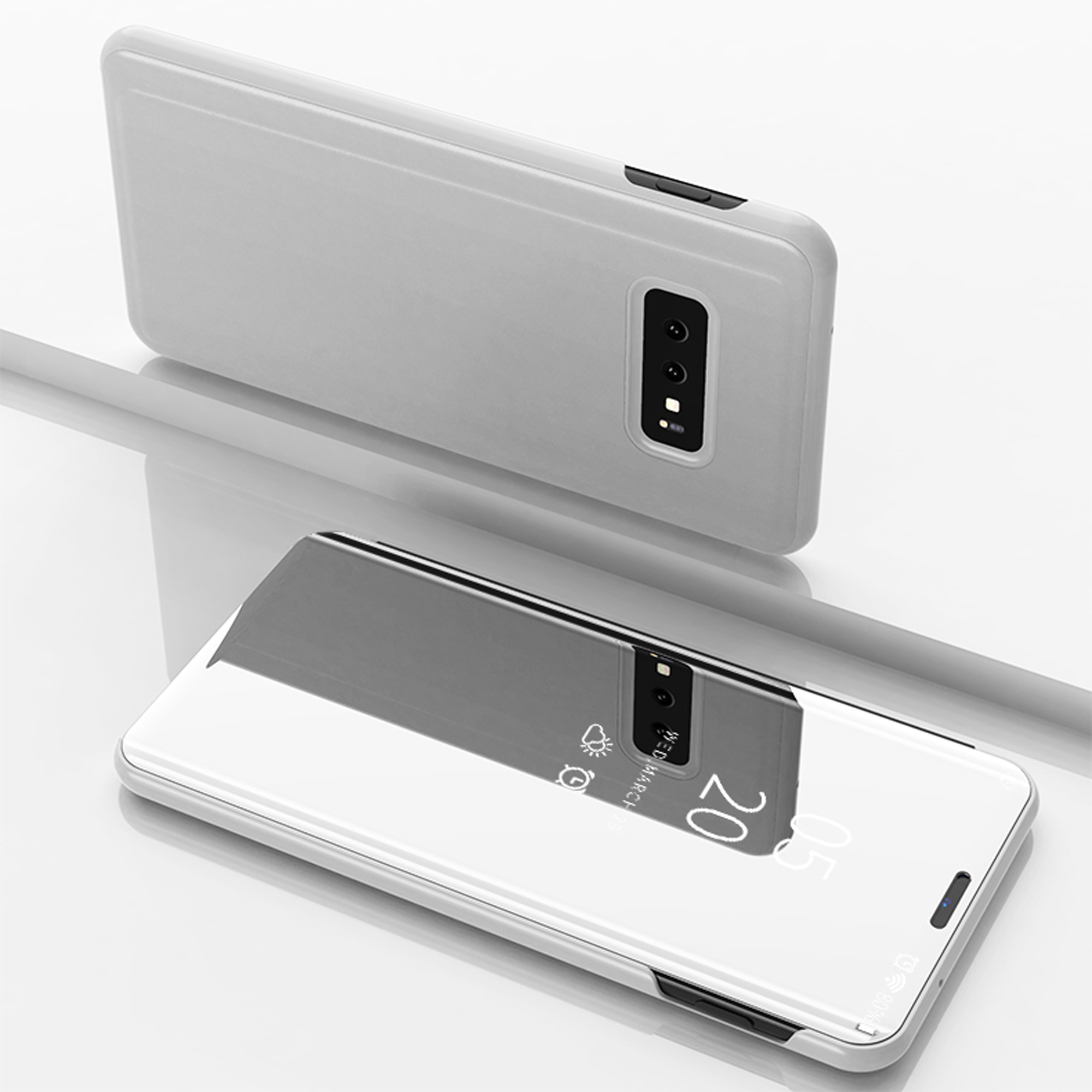 thumbnail 60 - For-Samsung-Galaxy-S9-S10-Plus-Smart-View-Mirror-Leather-Flip-Stand-Case-Cover